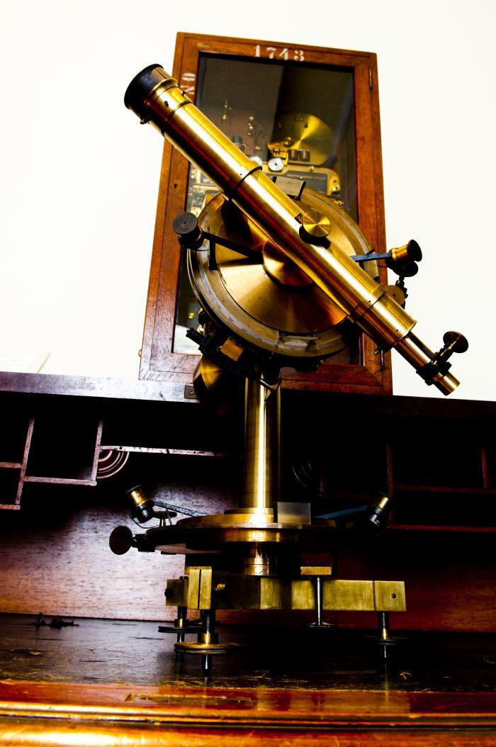 Teodolito restaurado no Museu Astronomia do Rio de Janeiro