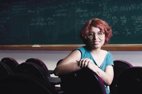 ... e Maria Clara: alunos do Impa que fazem o mestrado em paralelo à graduação