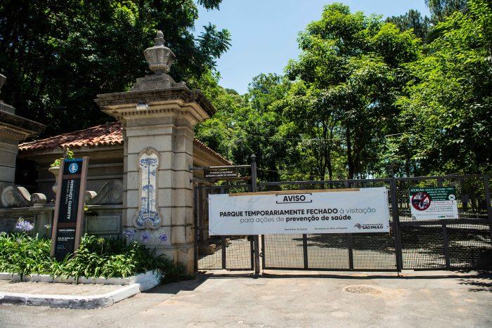 Horto Florestal, parque da zona norte de São Paulo, fechado...
