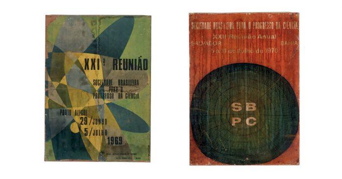 Cartazes dos encontros anuais e  uma das notícias coletadas pelo Deops sobre o encontro  de 1977 na PUC de São Paulo