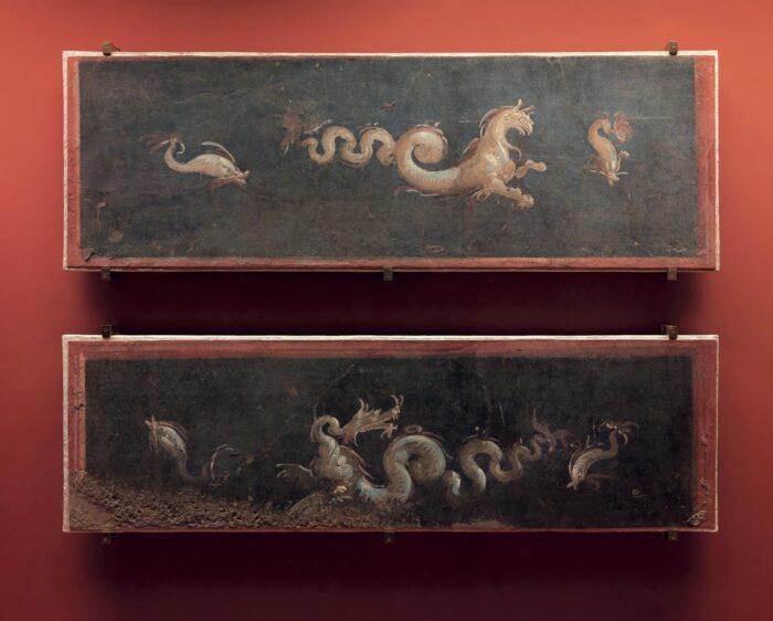 Los frescos de Pompeya antes del incendio,