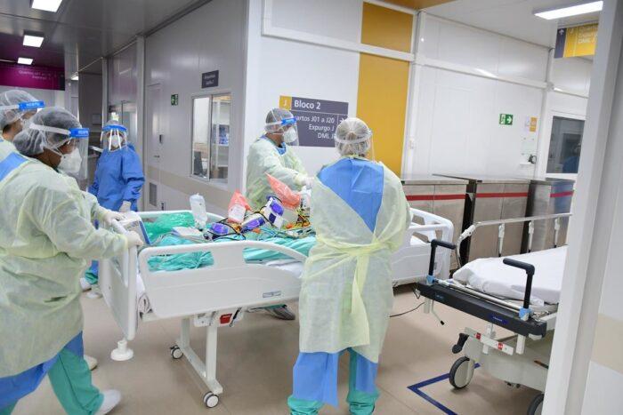 Rotina no Centro Hospitalar para a Pandemia